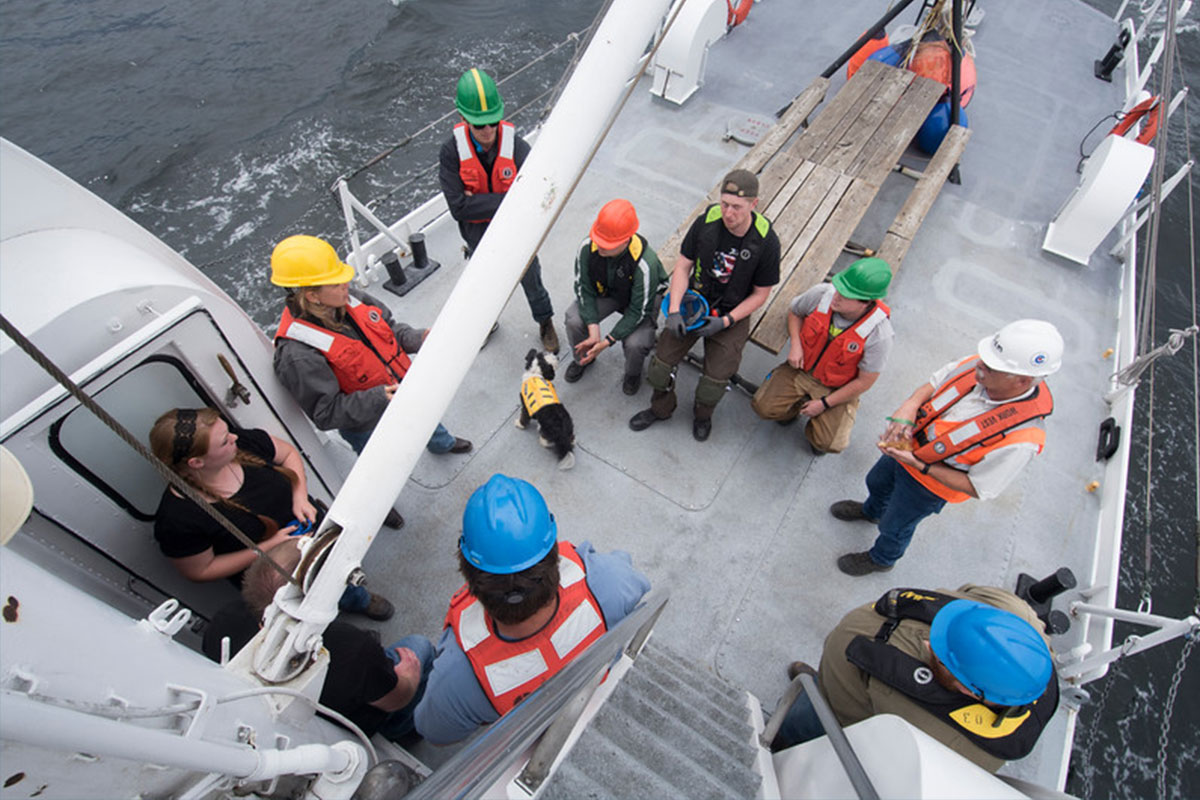 maritime students on boat