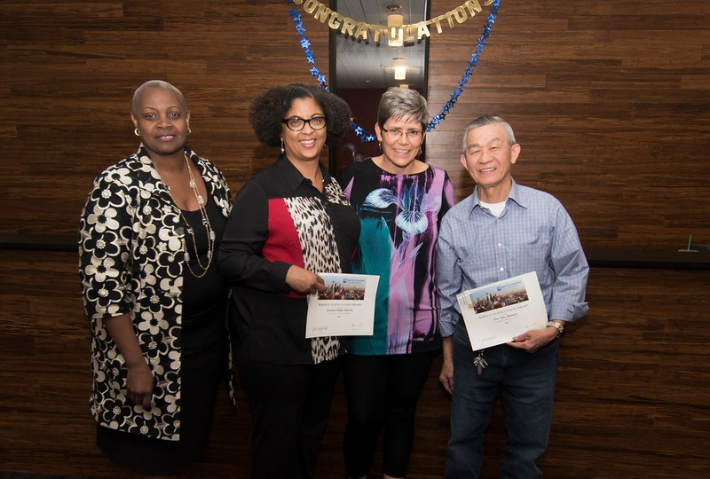 Yvonne Blake-Martin and Hoi Nguyen receive awards