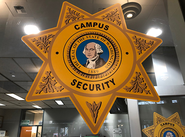 the badge logo of the SCC security office