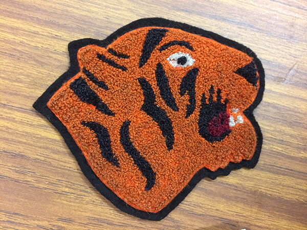 a historic Broadway High School patch of the Tiger mascot